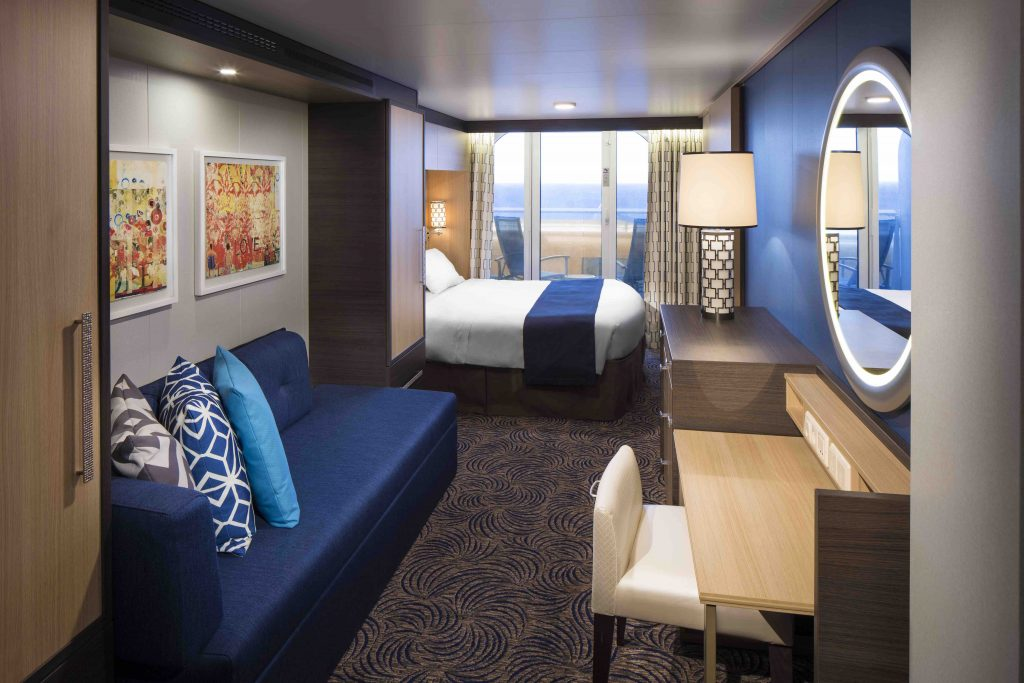 Obstructed Ocean View Balcony – High Occupancy (1E)
